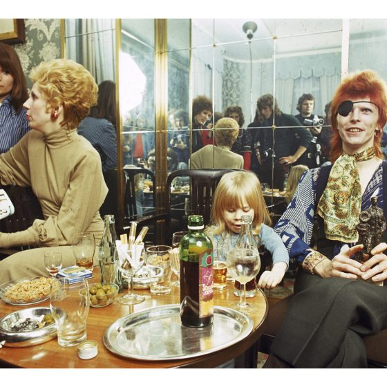 David Bowie & Family ,  at the Amstel Hotel - Netherlands - 1974  Gijsbert Hanekroot